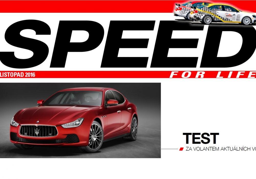 SPEED TEST - za volantem aktuálních vozů: Maserati Ghibli MY17